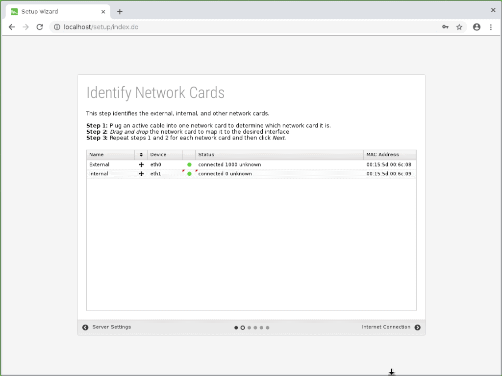 Network cards for Untangle External and Internal