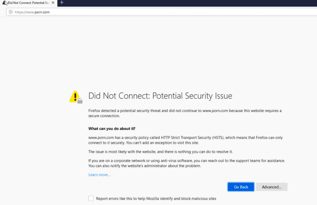 Porn.com is blocked by Untangle