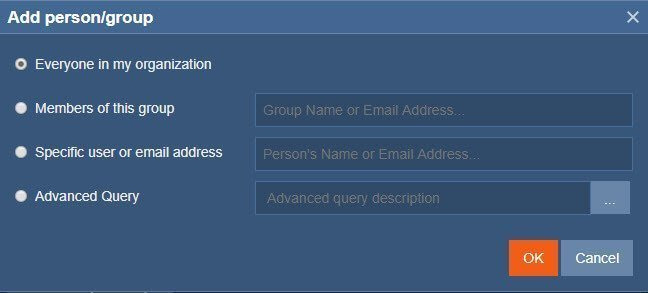 Exclaimer Select Senders