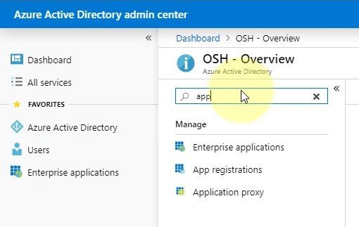 Azure Active Directory Admin Center - Enterprise Applications