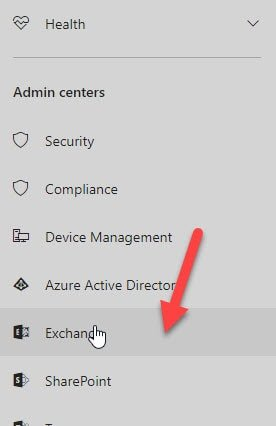 Office 365 - Open Exchange Admin Center