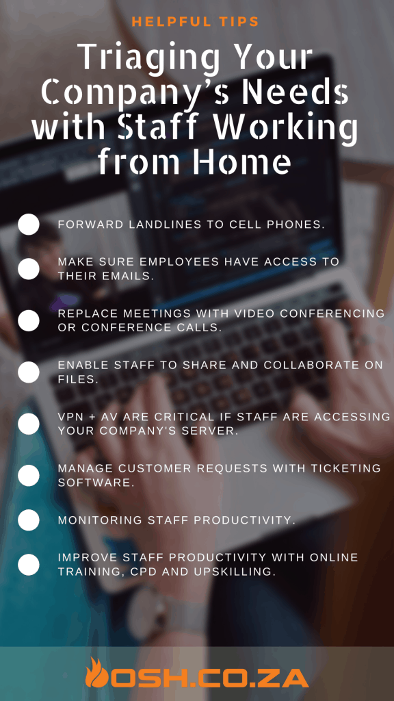 How to triage your Companies Needs to work from home
